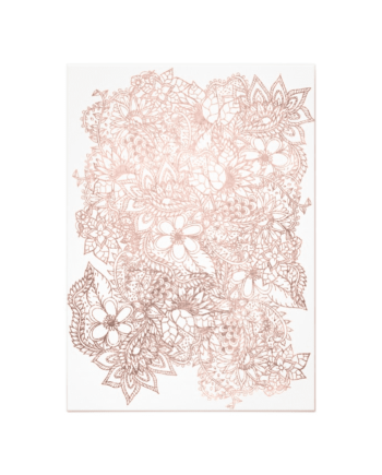 Rose Gold Floral Photo New Year Typography