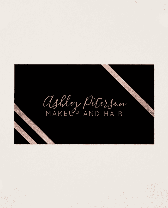 Rose gold geometric stripes hair makeup typography business card home other rose gold geometric stripes hair makeup typography business card pack of 100 colourmoves