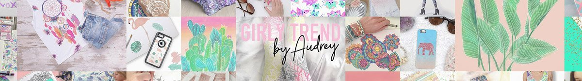 girly trend portfolio banner on Zazzle