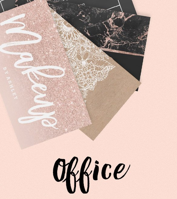 office modern business cards by Girly Trend