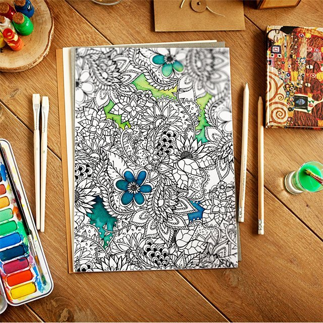 coloring page floral download