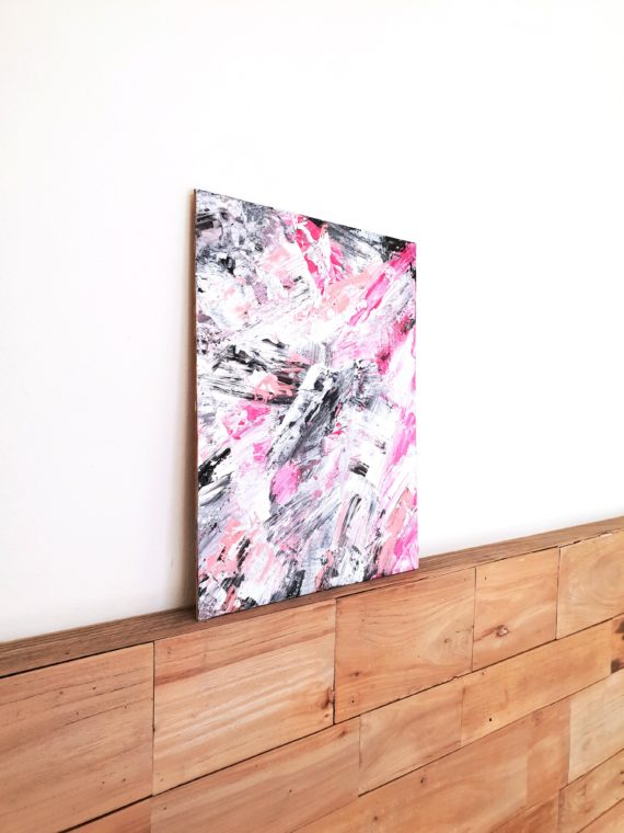 pink acrylic side view canvas board
