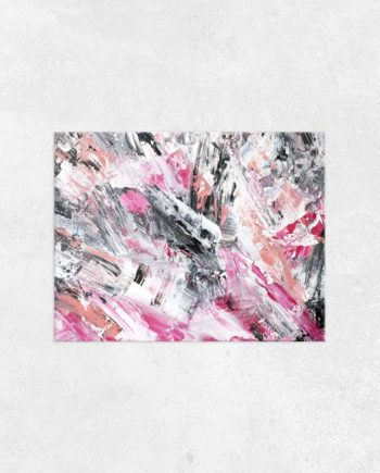 Pink acrylic white painting main
