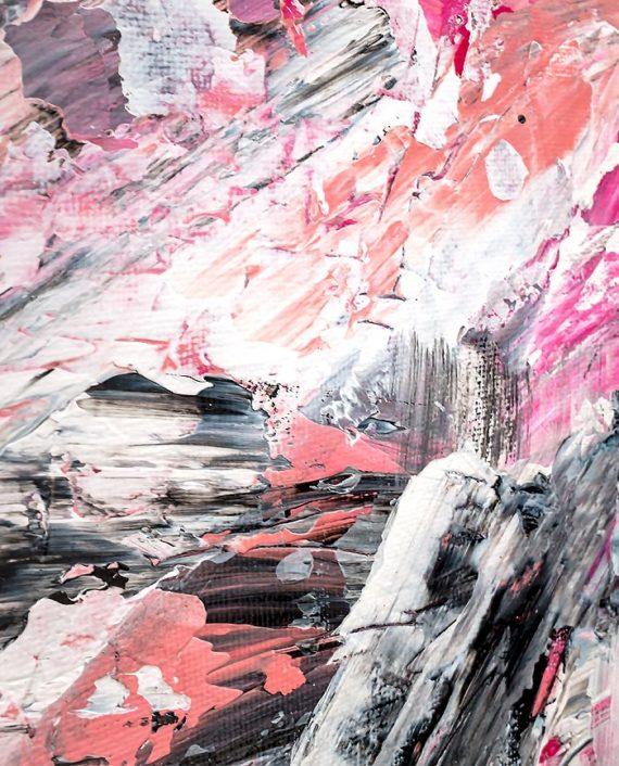 pink acrylic close up