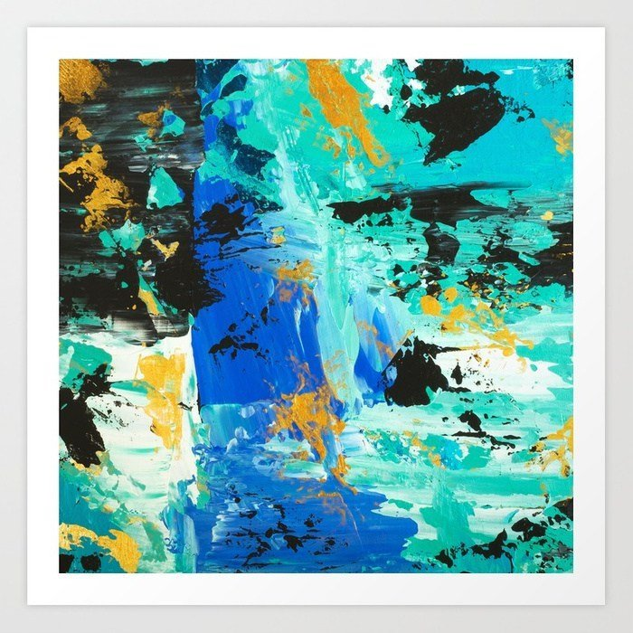abstract-blue-turquoise-gold-brushstrokes-original-acrylic-painting-prints