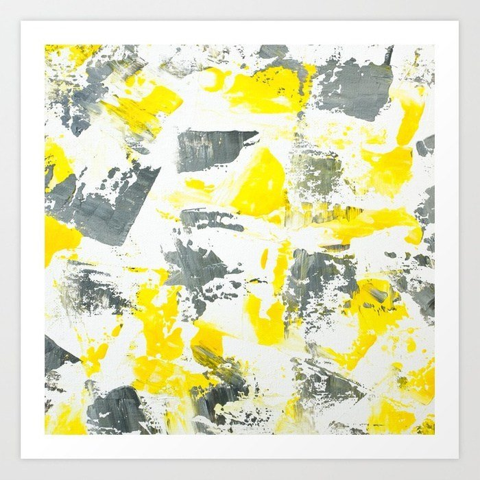 abstract-yellow-grey-brushstrokes-acrylic-paint-prints