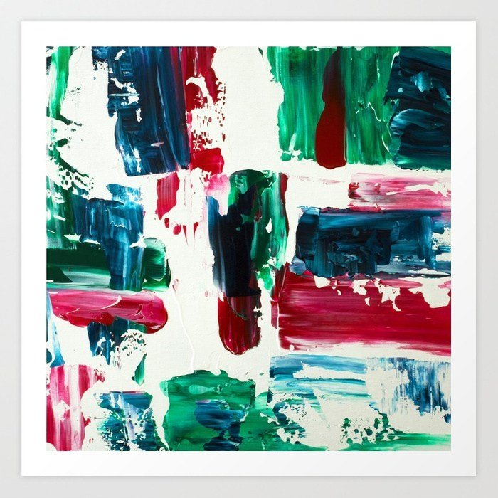 jingle-all-the-way-green-blue-red-white-acrylic-abstract-brushstrokes-christmas-pattern-prints