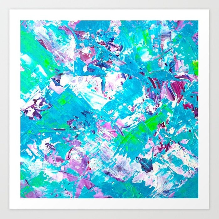modern-neon-green-blue-purple-original-acrylic-brushstrokes-painting-prints